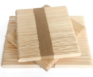 Straight Edge Wooden Ice Cream Sticks
