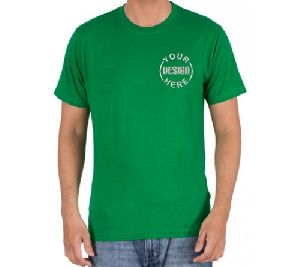 Embroidered Cotton T Shirt Green