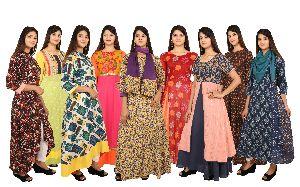 Printed Cotton Kurtis And Dresses
