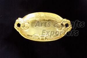 Brass Oval Tray With Handle