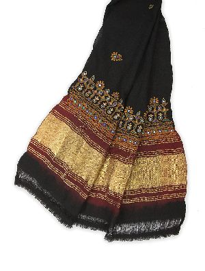 Cotton Rajasthani Mirrored Shawl