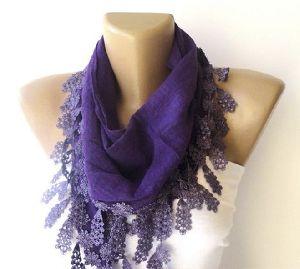 purple designer stole
