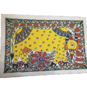 Traditional Madhubani Painting Depicting