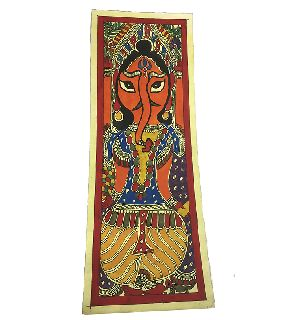 Traditional Madhubani Painting Depicting Lord Ganesh