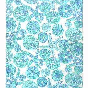 Cotton Printed Beach Towel - Light Blue ( 8000fc)