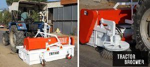 Tractor Driven Mechanical Broomer Machine