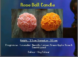 Designer Rose Ball Candle