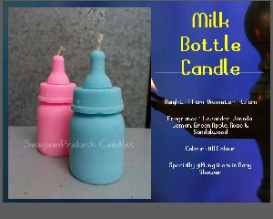 Milk Bottle candle ( Baby Shower Candle)