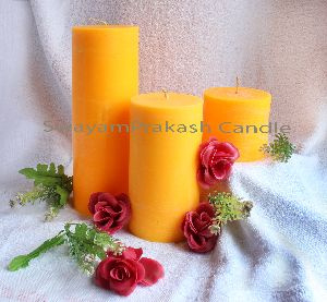 Round Pillar candles with frangance