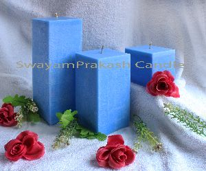 Square Pillar Candles with frangance