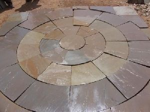 Sunrise Sandstone Circle Tiles
