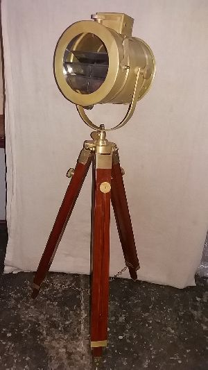Antique Brass Mini Tripod Lamps