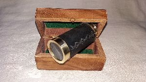 Telescope With Wooden Boxes