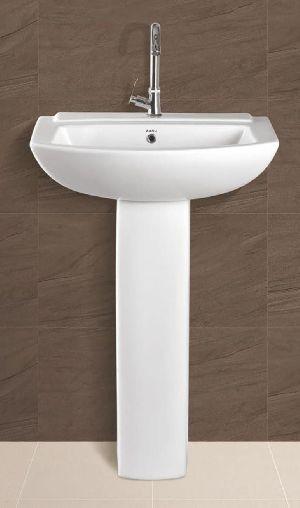 Aaru Plain Pedestal Wash Basin