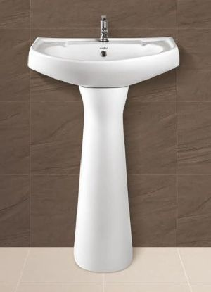 Pooja Plain Pedestal Wash Basin