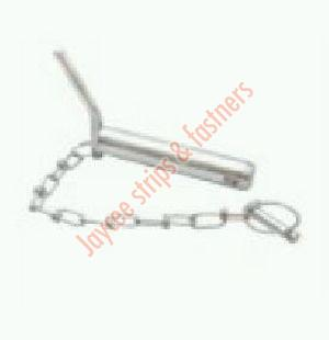 Bent Handle Hitch Pin With Linch Pin Chain