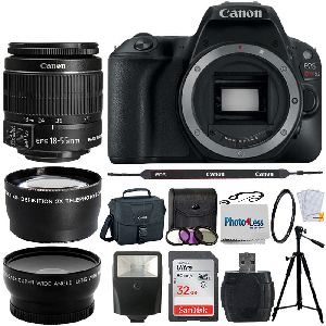 Canon Eos Rebel Sl2 24mp Dslr Camera W/ Ef-s 18-55mm F/4-5.6 Is Stm Lens Bundle