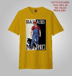 Men Prrinted T-shirts (bad Mario)