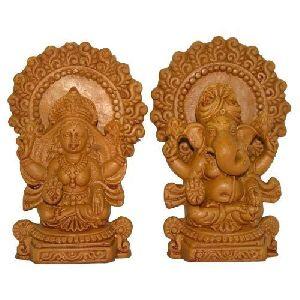 Wooden Laxmi Ganesh Statues