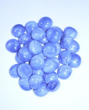 Opal round shape glass pebbles