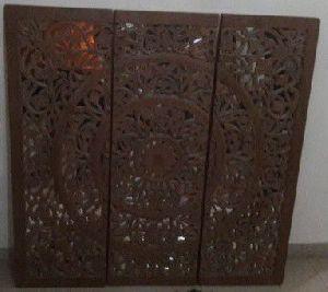 Wood Mirror Wall Panel