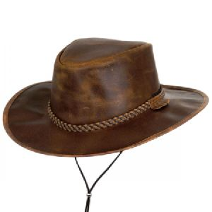 Mens Leather Hat