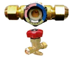SHUT OFF VALVE & LIQUID LINE INDICATOR