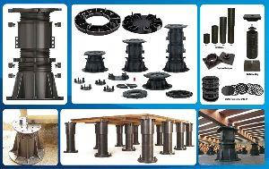 Tile levelers and pedestals spacer system