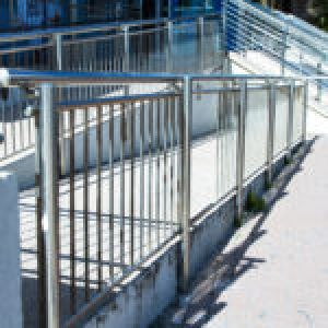 Staircase With Steel Handrails