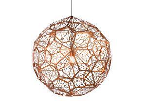 Bronze Web Etched Pendant Lamp
