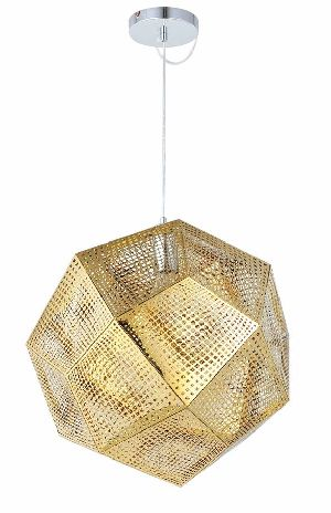 Gold Etched Pendant Lamp