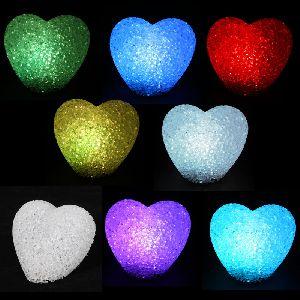 Mini Crystal Plastic Hearts