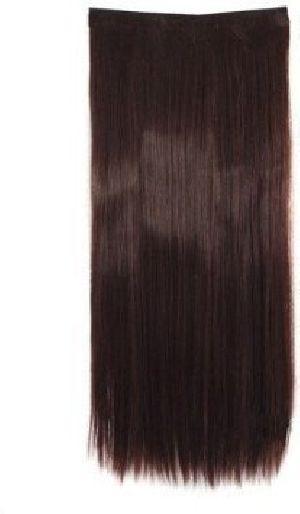 Brown 5 Clip Straight Hair Extension