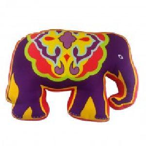 Plum Elephant Carnival Shape Cushion