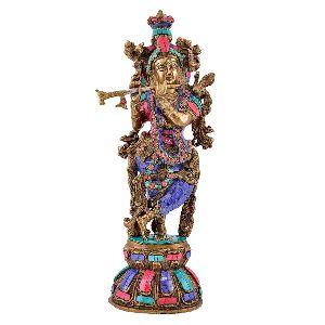 Brass Handmade Krishna Statue