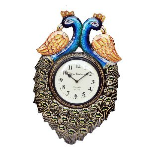 Indian Handmade Peacock Wall Clock