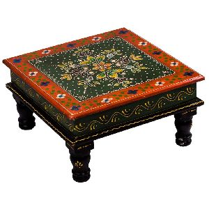 Red Coloured Wooden Chowki