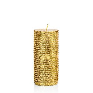 Glitter Gold Candle Large