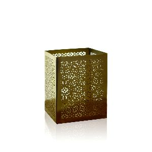 Jaali Votive Gold Candle