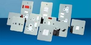 Switch and Sockets Chrome Stainless steel
