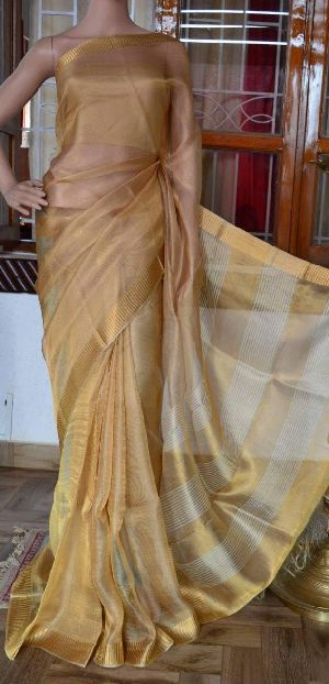 Exclusive Linen Tissue Saree
