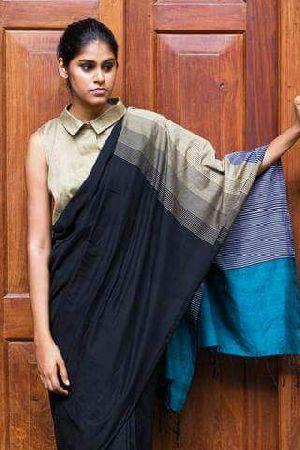 Handloom Designer Khadi Saree