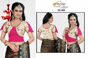 Himalay Creation Stretchable Blouse In Fancy Cold Shoulder