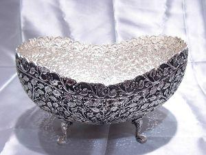White Metal Bowl