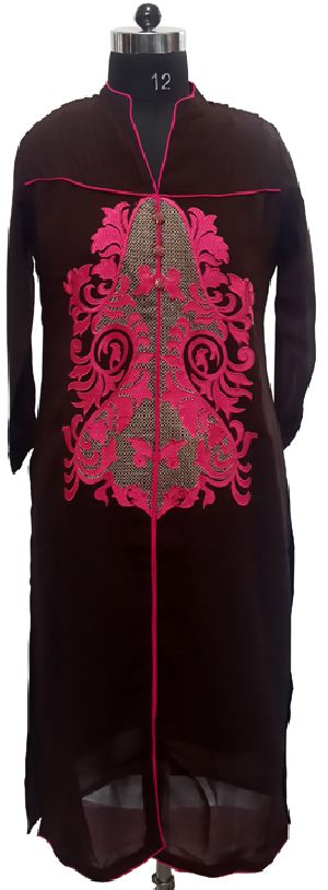 Brown Georgette Kurta