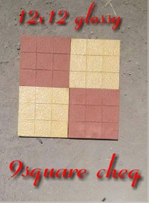 Glossy 9 Square Chequered Tiles