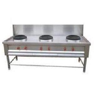 Three burner chinese range