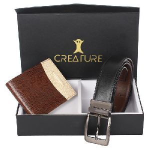 Mens Leather Combo Gift Set