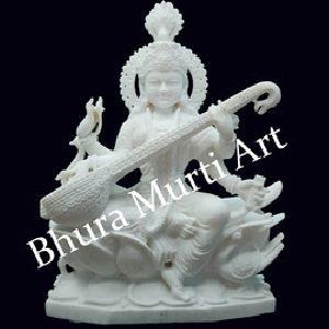 White Marble Saraswati Statue 1