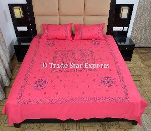 Handmade Cotton Embroidery Bedspread